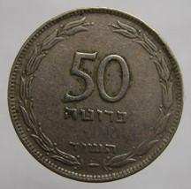 Scarce Vintage 1954 ISRAEL 50 Pruta COIN Grade VF - $5.99