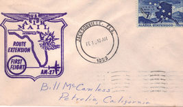 1959 US Air Mail First Flight AM-27 ROUTE EXTENSION FDC - $5.95