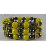 Pittsburgh Steelers Colors/Hematite/Antique Gold Bracelet - $16.95