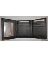 Genuine Leather Men's Trifold Tri-fold Wallet- #3126A BLACK - $20.00