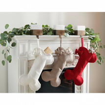 Dog Bone Hanging Christmas Stocking Set Of 3 Stockings Fur Baby Babies 2... - $65.47