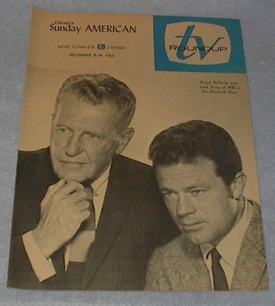 Primary image for Chicago Sunday American TV Roundup Guide Ralph Bellamy December 1963