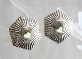Mid Century Modern Corona Silver-tone Screw-Clip Earrings 1950s vintage ... - $12.30