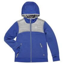NEW Gerry Youth Kid's Larkspur Full Zip Ribbed Hooded Jacket