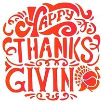 Happy Thanksgiving Stencil - 6.5 x 6.5 inch (M) - Reusable Turkey Scrapb... - $11.79
