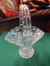"Beautiful Cut Crystal Floral Design BASKET..10.25"" height - $47.11"
