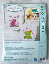 Dimensions Baby Hugs Fairy Bibs Stamped Cross Stitch Kit - 2 Baby Bibs - $15.15