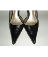 ALDO Black Leather Stiletto High Heel Shoes - Euro 38 US 7B - $35.75