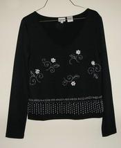 TOGETHER Women's Black Dress Long Sleeve Blouse Top Shirt Size M Medium / 8 MINT - $19.99