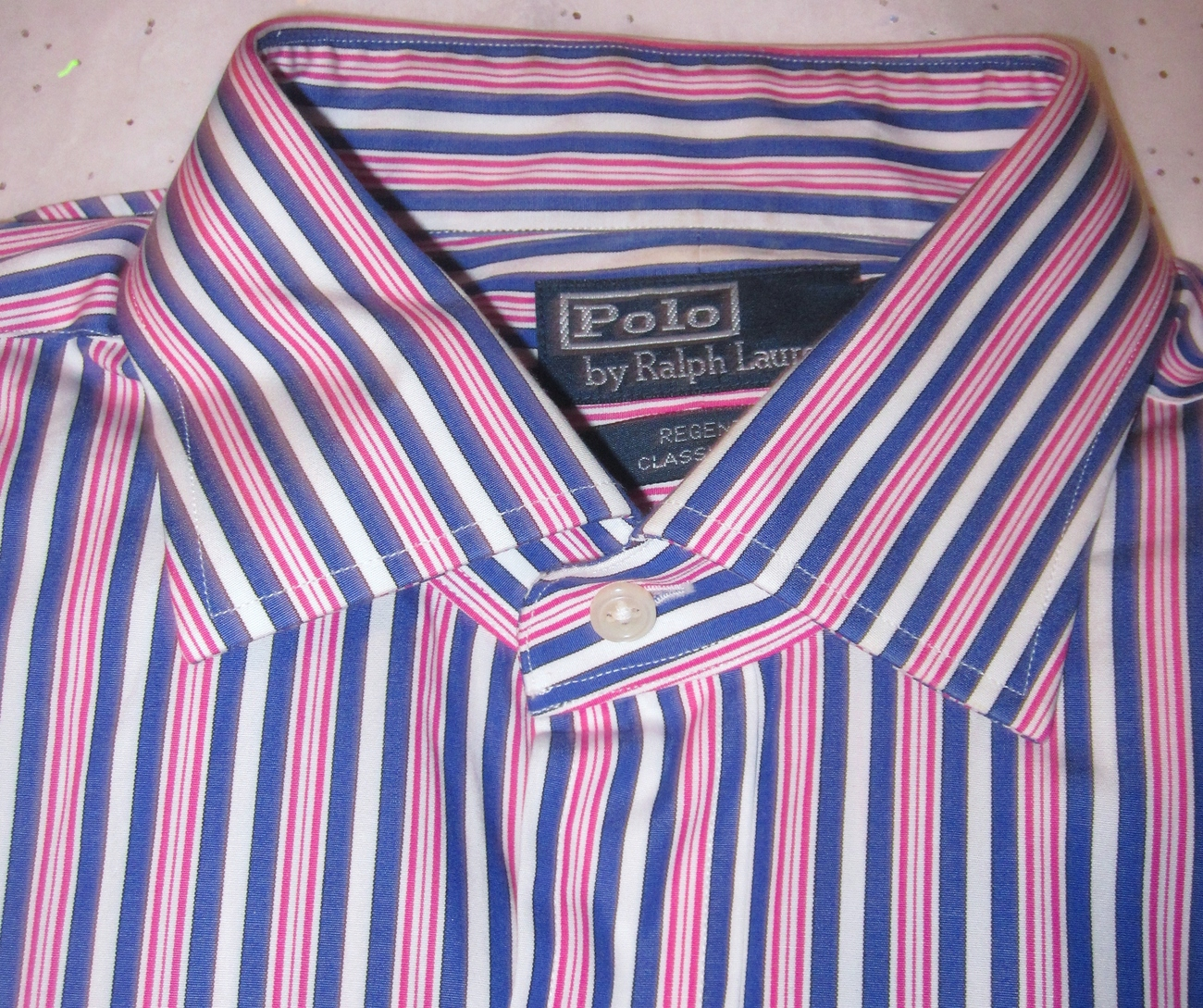 Ralph Lauren Mens Long Sleeve Shirt Size Large 16 1/2 34-35