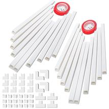 "314"" Cable Concealer, PVC Cord Covers L15.7in X W0.95in X H0.55in, White - $30.40"