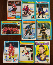 1979-80 TOPPS FLYERS TEAM CARD SIGNED BY PAT QUINN FLAMES MAPLE LEAFS KI... - $39.59