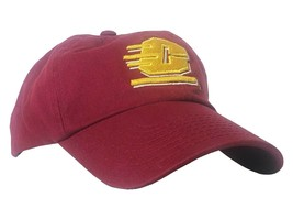 Central Michigan University Chippewas Embroidered Maroon and Yellow Hat Flying C - $17.99
