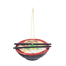 Darice Christmas Glass Ornament: Noodle Bowl, 3.13 x 1.38 inches w - $11.99