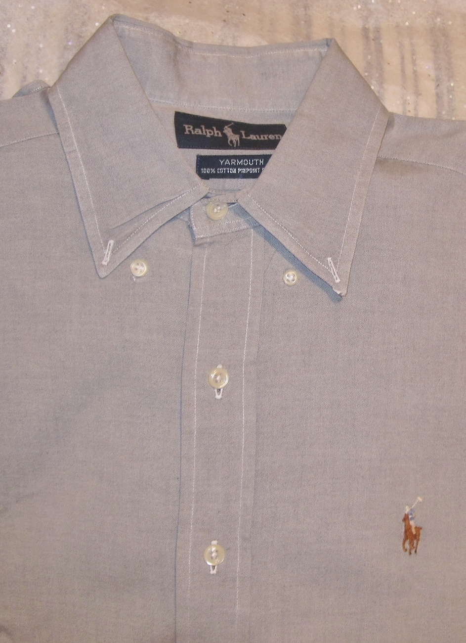Ralph Lauren Mens Long Sleeve Shirt Size 15 / 32-33