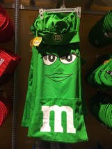 M&M's World Green Character Apron and Chef Hat Set New with Tag - $36.66