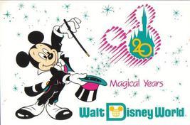 Walt Disney World - 20 Magical Years - Disney Postcard - $4.99