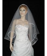 4 Tier White Bridal Wedding Gown Fingertip Tiara Veil v11 - $23.99