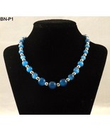 Merona Nickle Free Blue and Chrome Beads Necklace NWT - $12.99