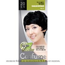 CONFUME 7 MINUTE SPEED HERBAL HAIR COLOR DYE -  S20 BLACK - $11.99