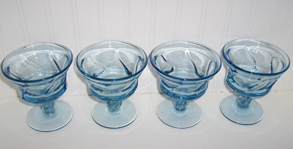 Fostoria Jamestown Blue Glasss Sherbets (Set 4)