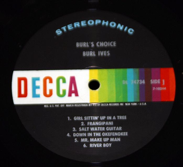 """Burl Ives """"Burl's Choice""""   LP"""