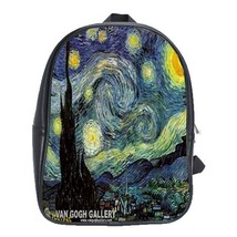 Backpack School Bag The Starry Night Painter Vincent Van Gogh Dutch Post... - $33.00