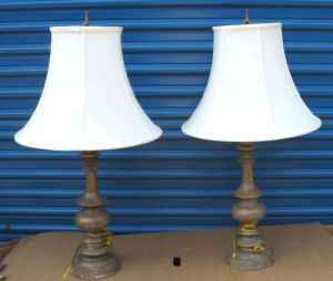 Pair of High Quality Table Lamps with shades