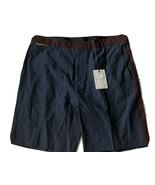 NWT MARC JACOBS Men's Shorts 36/52 Italy Cotton Linen Blend Navy burgundy - $67.89