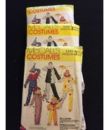 Easy Clown Costume Pattern McCalls 7850 Large Med Small New Old Stock 3 ... - $8.00