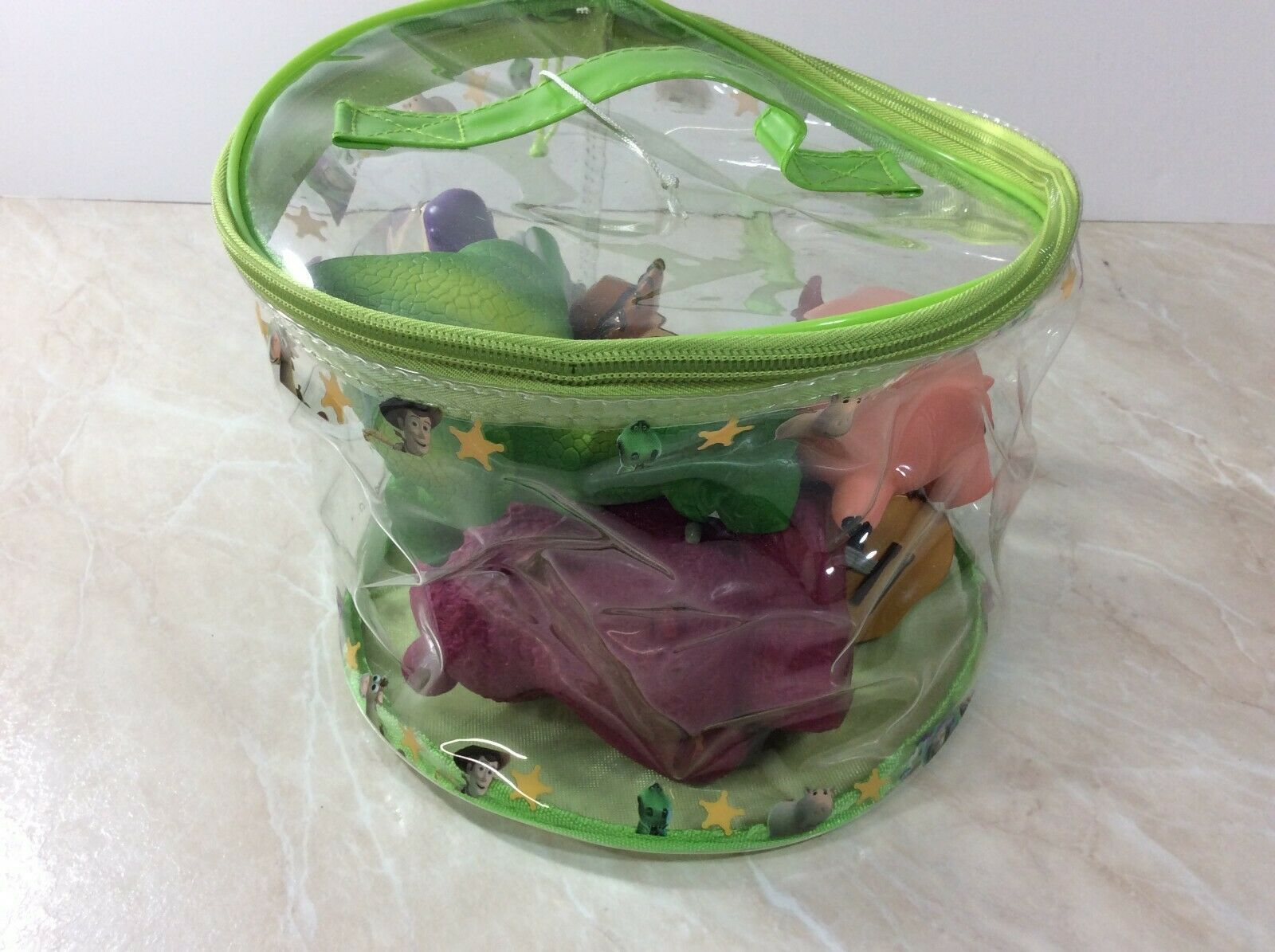 Disney Toy Story Figures with Carrying Bag 2014 Pixar Woody Buzz Hamm Lot of 7 image 9