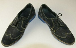 Cole Haan Men's Wing Tip Blue Suede Lace Up Size 8.5 M Oxfords Retro Hipster - $46.27