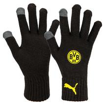 Puma Borussia Dortmund Knit Gloves Winter Sportswear Running Outdoor 041... - $25.99
