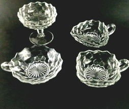 Lot of 4 Pieces Fostoria American Clear Various Shapes Open Top Servers ... - $34.99