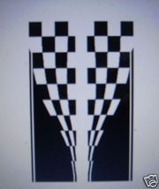 CHECKERED HOOD DECAL #24 DECAL GRAPHIC CAR TRUCK SUV - $50.00
