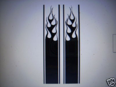 FLAME STRIPE #12 DECAL TRUCK BED HOOD TAILGATE LARGER