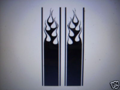 FLAME STRIPE #12 DECAL TRUCK BED TAILGATE SUV SHORTER