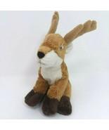 """Plush Nat & Jules Reindeer Brown Baby Lovey Toy Stuffed Animal Plush 8"""" EUC - $7.66"""