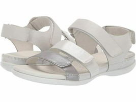 ECCO Women's Flash Flat Sandal White Wild Dove Size 9-9.5 US 40 EUR - $70.08