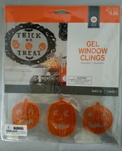 Target Halloween Decor Gel Window Clings Trick or Treat & Pumpkins - $2.97