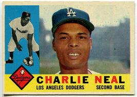 Vintage MLB 1960 Topps #155 Charlie Neal Los Angeles Dodgers - $7.75