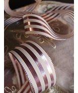 """AK-Trading 1.5"""" x 25 Yards Metallic Striped Gift Wrap & Craft Ribbon - R... - $18.76"""