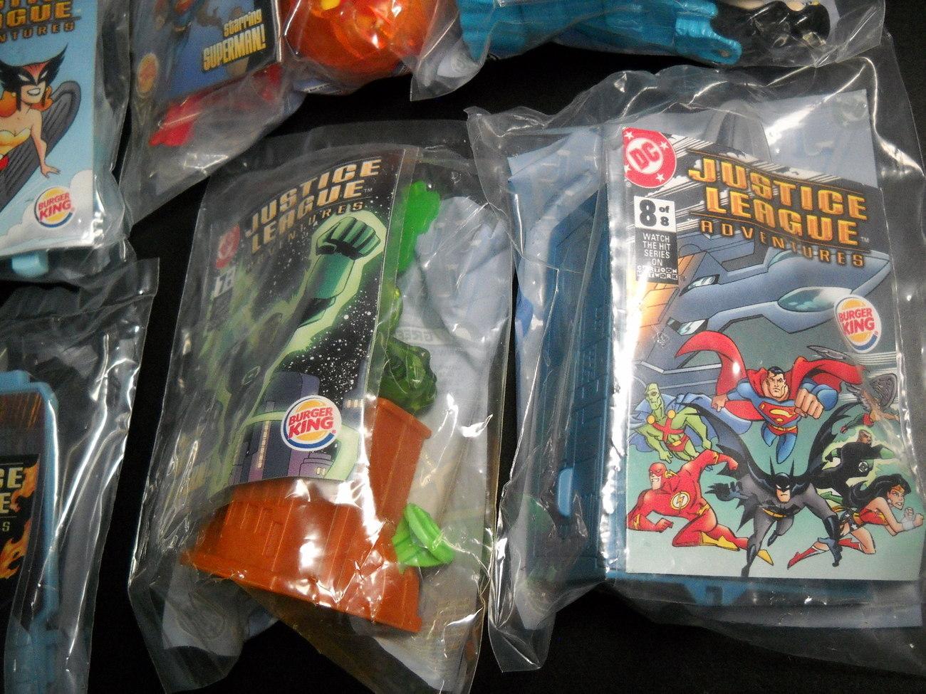 Justice League Adventures Burger King Premium Collectibles 2003 Cartoon Network