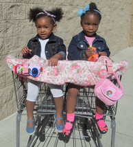 Twin Handmade Shopping Cart Cover, keeps baby away from germs, for two G... - $60.00