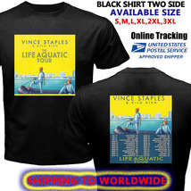 Vince Staples Tour Dates 2017 Black Tee Shirt S-3XL Sizes Piring New - $11.50+