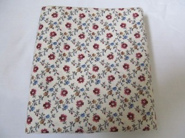 Rosy Red Blue & Tan Delicate Floral Quliting Fabric JoAnn Fabrics 1.5 Yards - $14.90