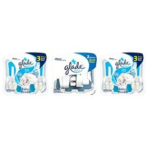 Glade PlugIns Scented Oil Air Freshener, Clean Linen, 6 Refills and 2 Warmers, 4