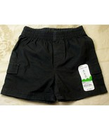 Jumping Beans Toddler Boys Black Shorts Elastic Waist 12mo - $4.99