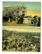4 Asbury Park New Jersey Postcards 1910's Pier Pavilion and Beach - $14.83