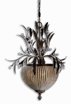 Uttermost 21004 Cristal de Lisbon 3-Light Chandelier, Golden Bronze Finish - $536.80